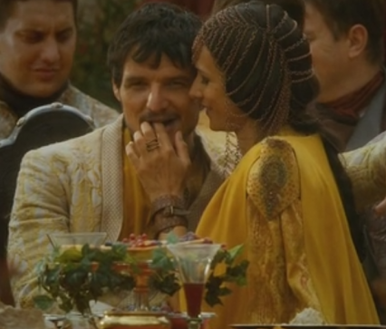 oberyn making eyes at loras